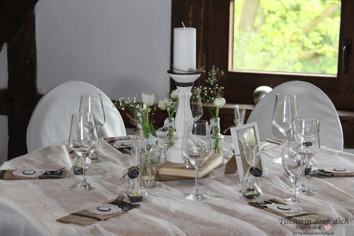Tischdekoration Zum 50 Geburtstag Deko Tischlein Deck Dich