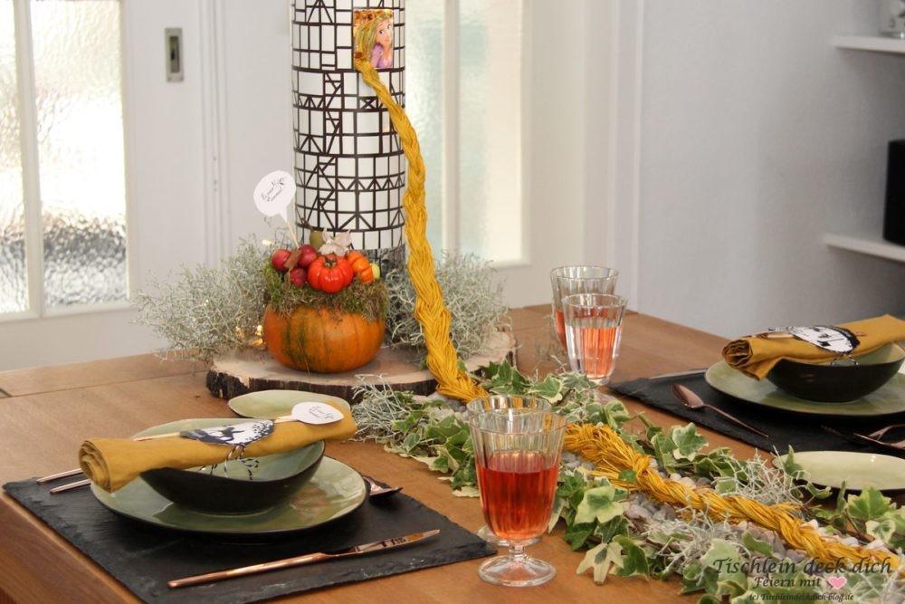 Maerchenhafte Tischdekoration
