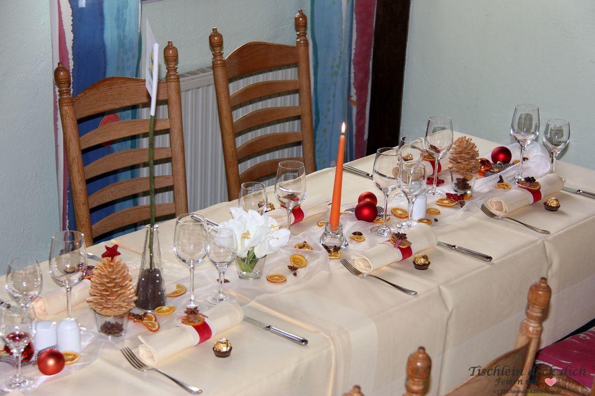 weihnachtliche geburtstagsfeier tischdeko tischlein deck. Black Bedroom Furniture Sets. Home Design Ideas