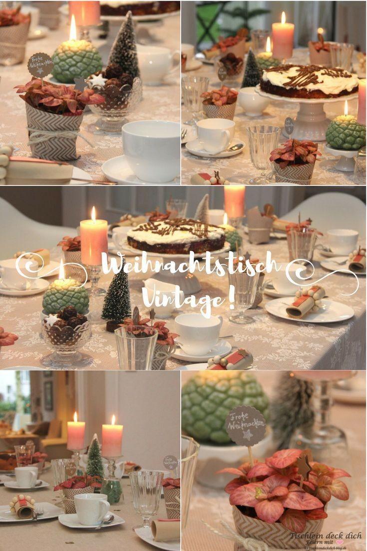 Merry Christmas Tischdekoration In Apricot Und Sehr Romantisch