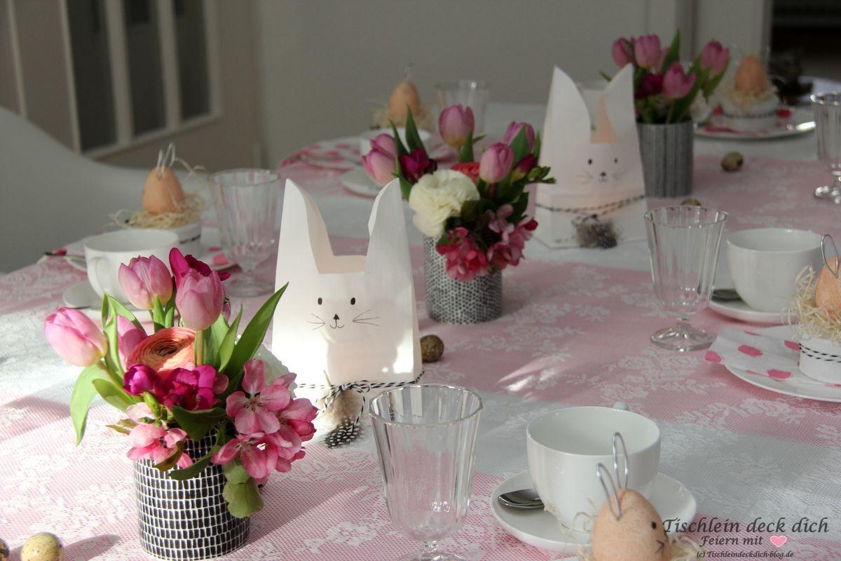 Ostern DIY Tischdekoration