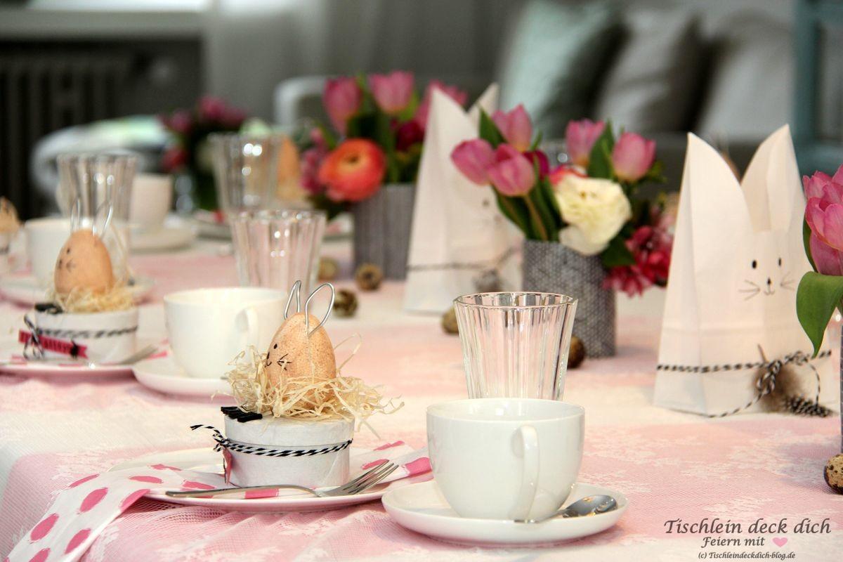 ostern rosa tischdeko tischlein deck dich. Black Bedroom Furniture Sets. Home Design Ideas