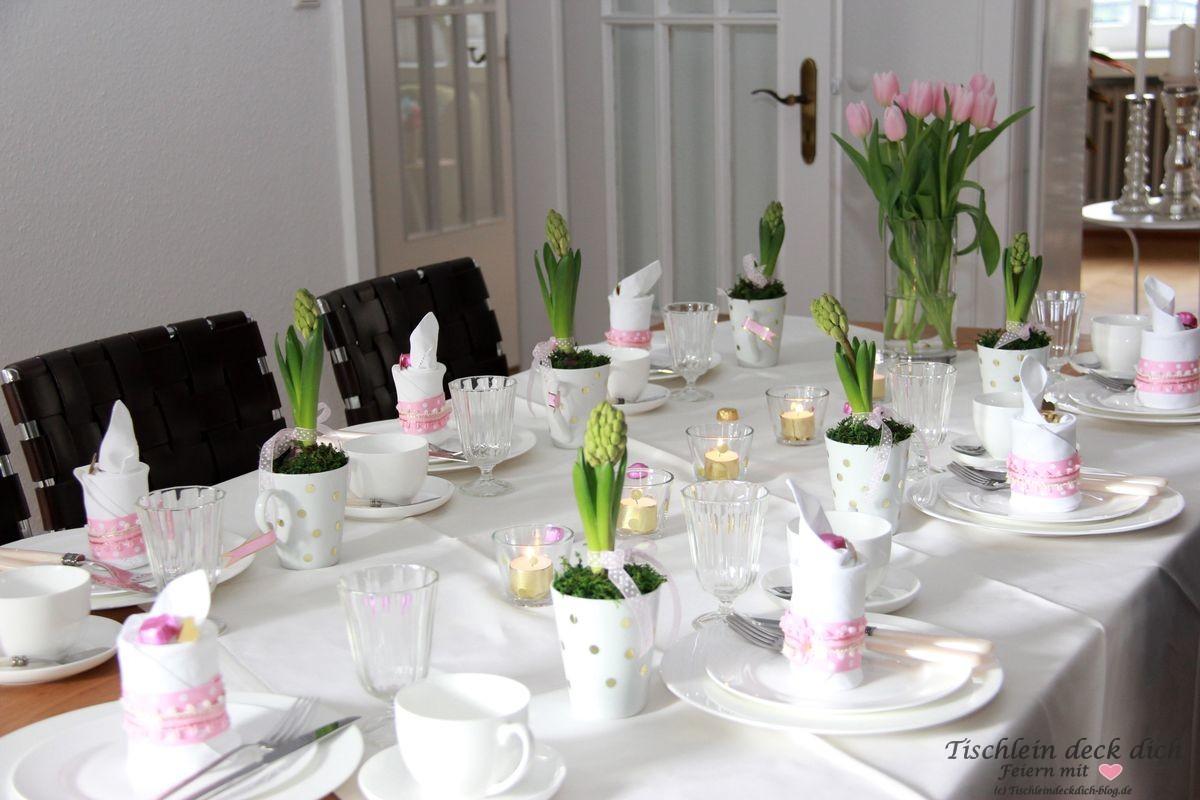 tischdekoration fr hling fr hlingshaft in rosa gold. Black Bedroom Furniture Sets. Home Design Ideas