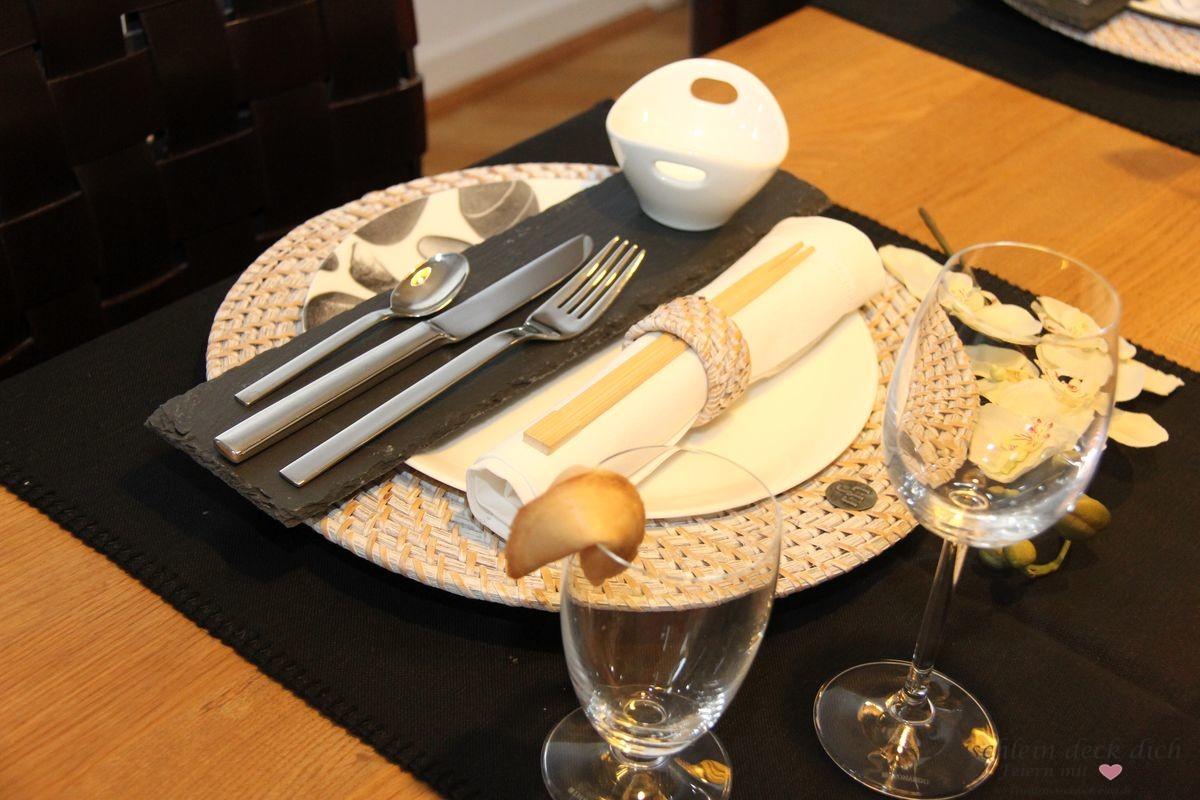 Asiatische Tischdeko 1 Tischlein Deck Dich