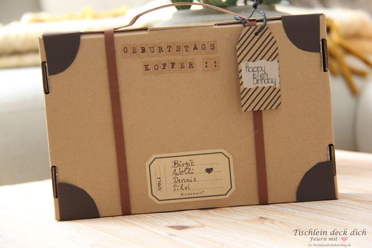 Kreative Geschenkverpackung basteln - ein Geburtstagskoffer geht auf ...