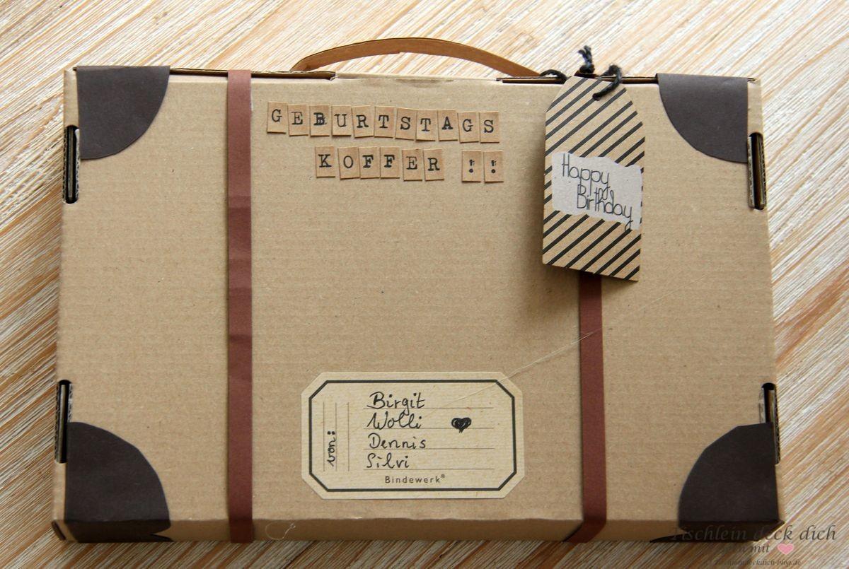 Geschenkverpackung, Koffer basteln