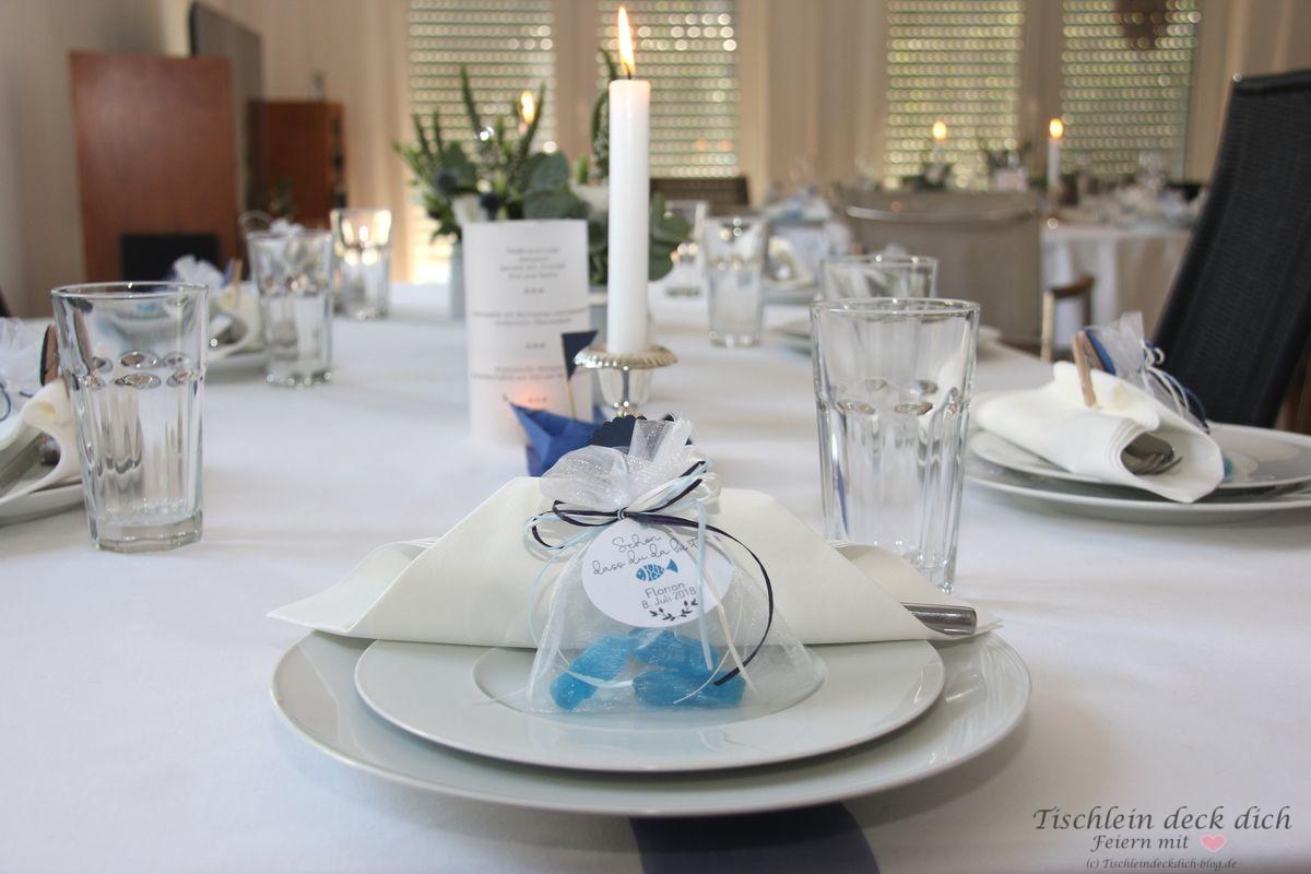Stilvolle Tischdekoration Fur Die Kommunionsfeier Tischlein Deck Dich