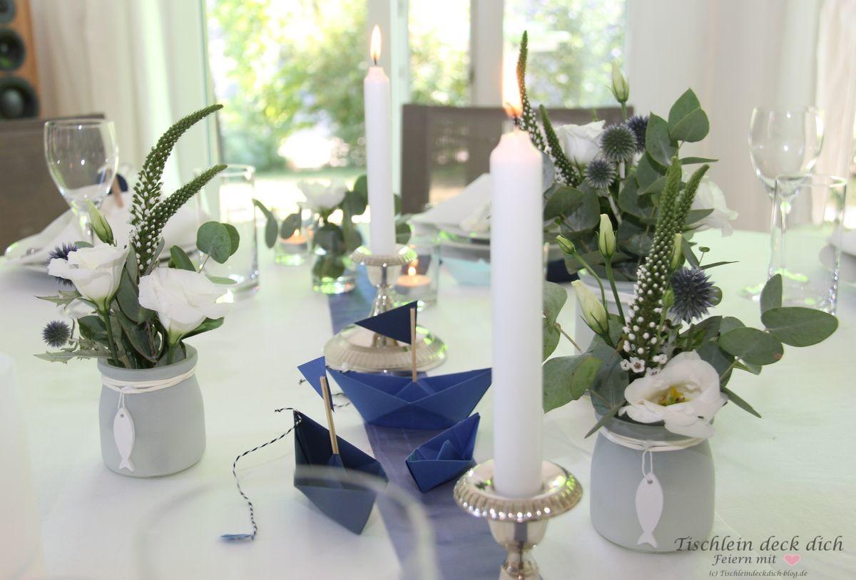 Kommunionsfeier Tischdekoration