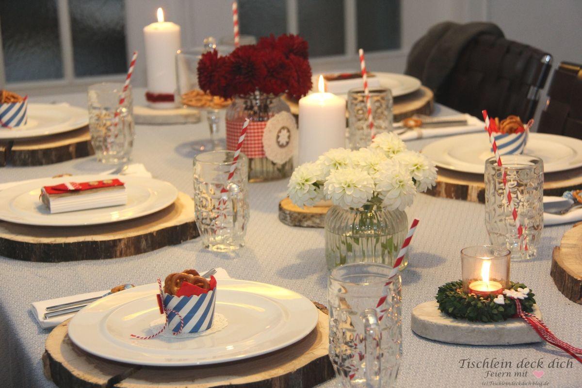 Eine Fesche Tischdeko Fur S Oktoberfest Tischlein Deck Dich