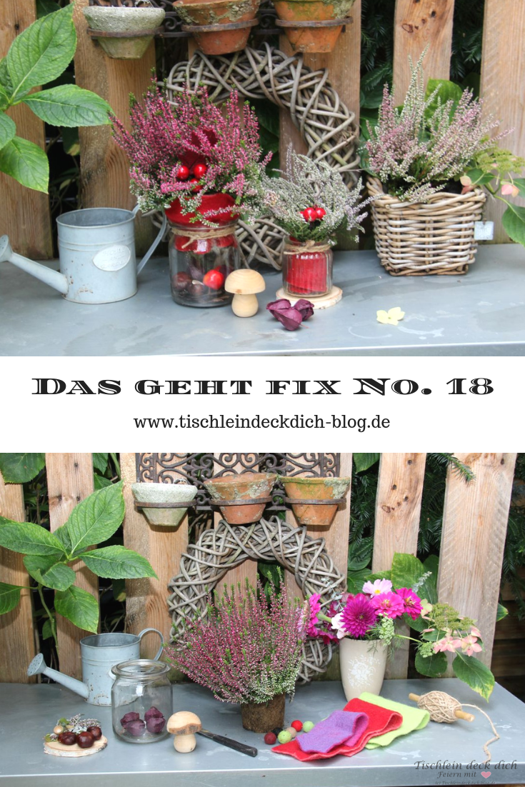 das geht fix no 18 herbstdeko mit heidekraut f r unseren pflanztisch tischlein deck dich. Black Bedroom Furniture Sets. Home Design Ideas