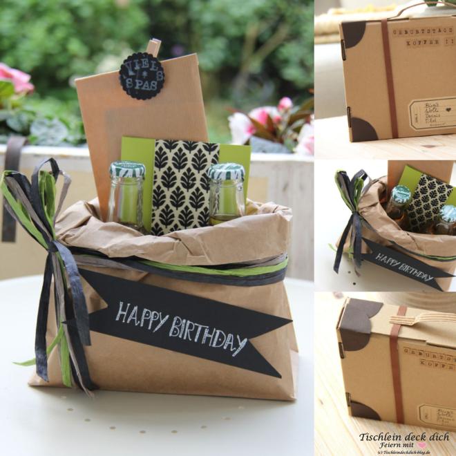 Kreative Geschenkverpackung Basteln Ein Geburtstagskoffer Geht Auf