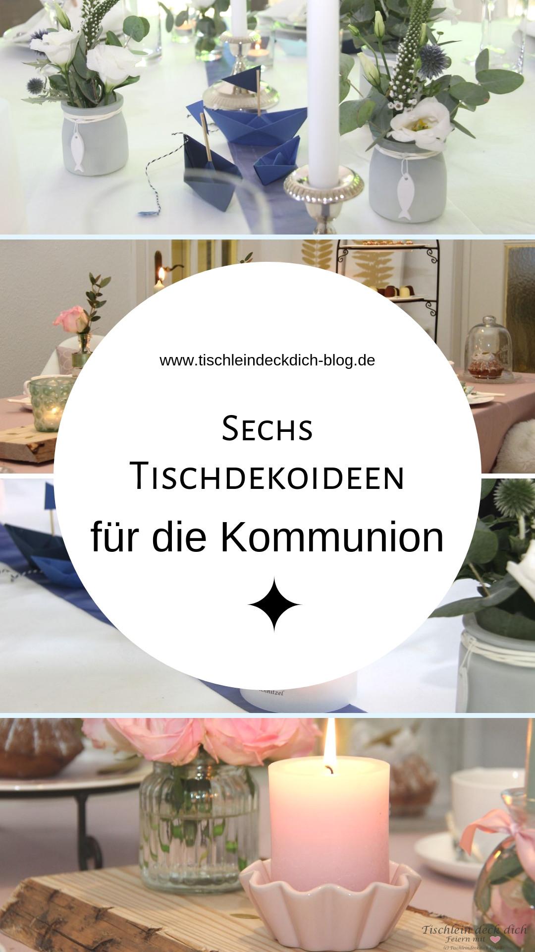6 Tischdekoideen Fur Die Kommunion Konfirmation Oder Taufe