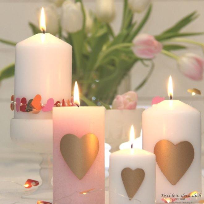 romantische-Kerzendekoration